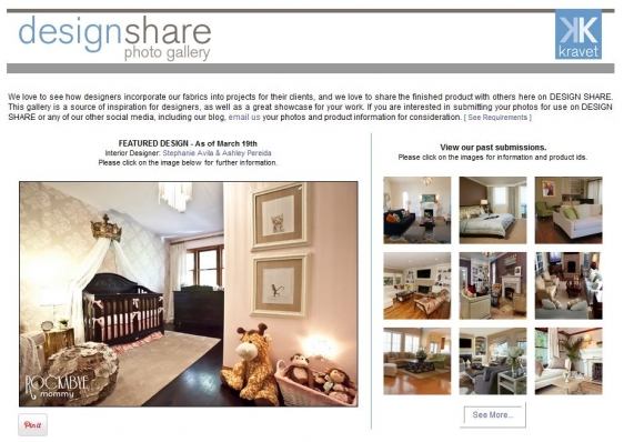 "Showcase your work on a supplier  ""design share""  galley"